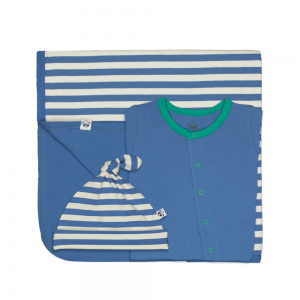 Bamboo Clothing Baby Gift Set - Hat Blanket and All in One or Body Tee