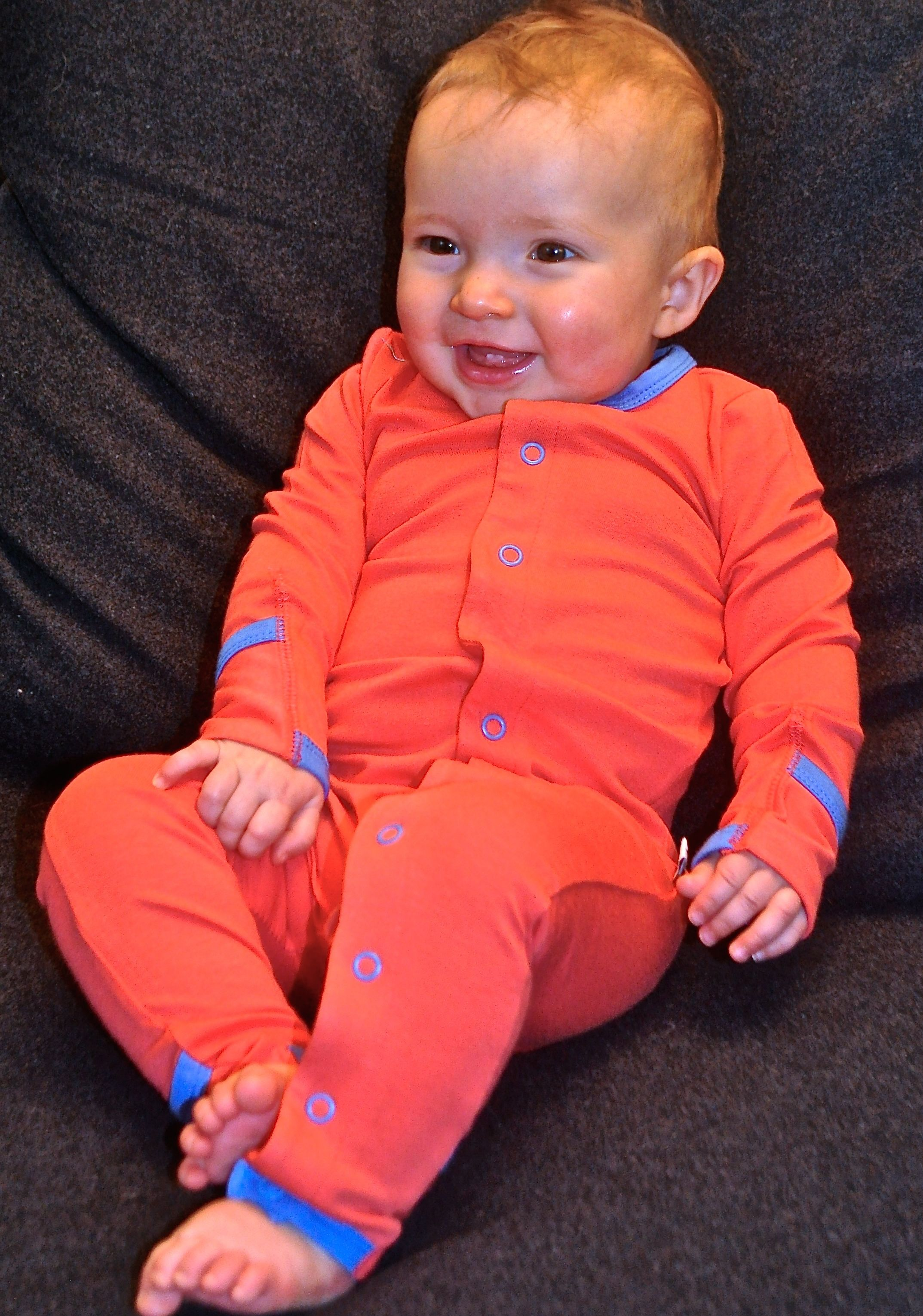 Coral Bamboo Baby Grow