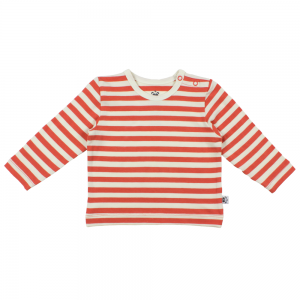 Coral Striped Baby T'shirt