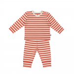 Coral All Stripe Pyjamas