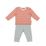 Coral Stripe and Moonstone Pyjamas