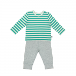Jade Stripe and Moonstone Pyjamas