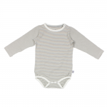 Fine Grey and Natural Striped Bamboo L/S Body