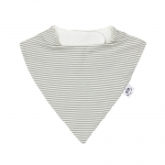 Fine Grey and Natural Striped Bandana Dribble Bib