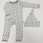 sparrow print Baby Grow and Hat