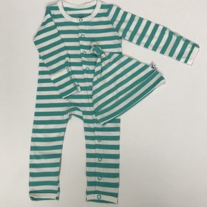 Striped Hat and Baby Grow set