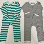 Jade and Grey Stripe Set