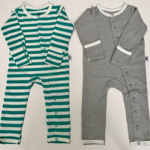 Jade and Grey Stripe Set