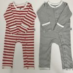 Coral and Grey Stripe Set