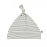 Fine Grey and Natural Striped Bamboo Hat